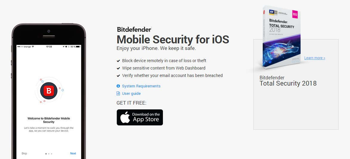 Bitdefender iOS Mobile security
